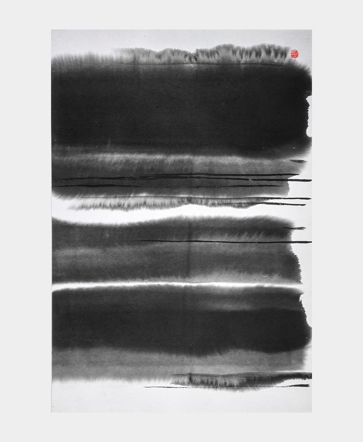 송수남, 〈나무〉, 1985, 94x138cm, 종이에 수묵, 국립현대미술관 소장