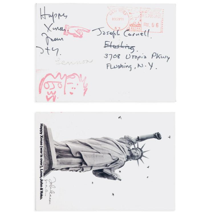 요코 오노와 존 레논이 조셉 코넬에게 보낸 편지.