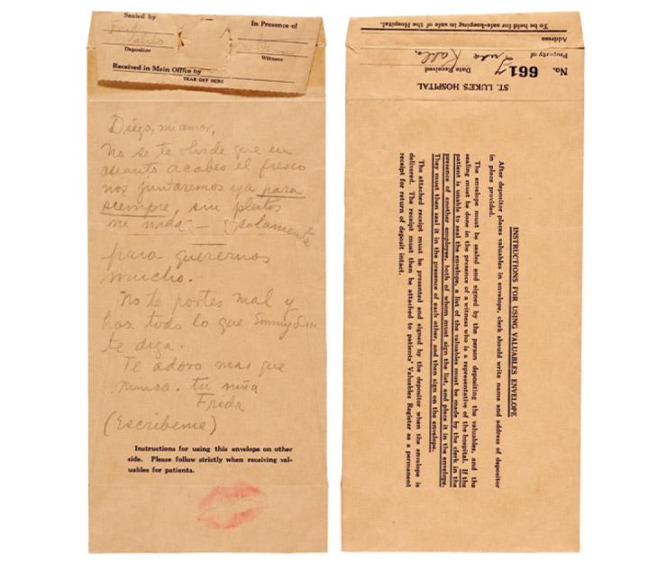 프리다 칼로가 디에고 리베라에게 보낸 편지.