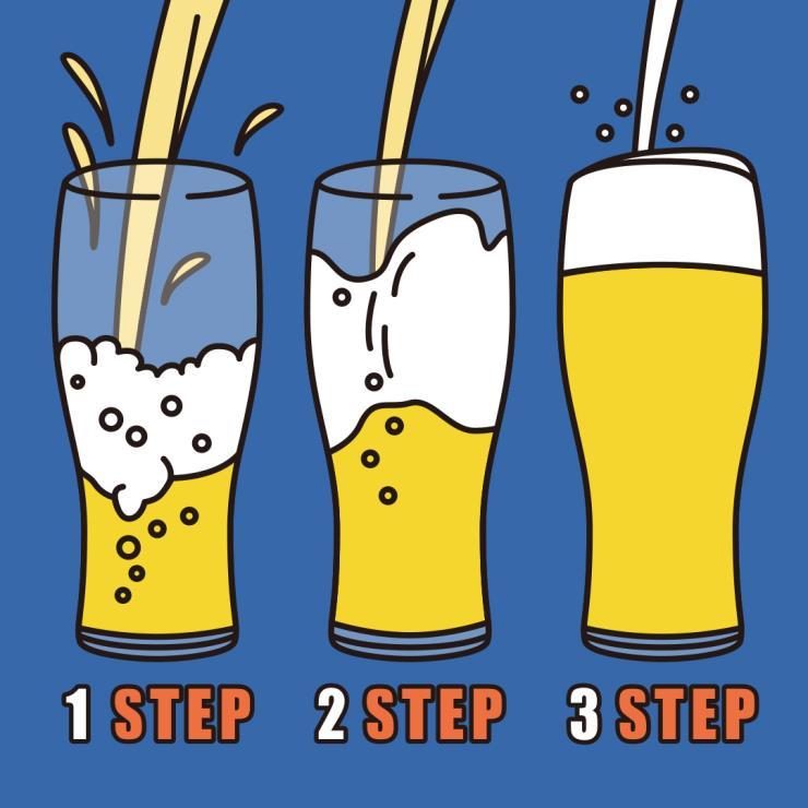 맥주를 더 맛있게 먹는 비법_맛있게 따르는 법