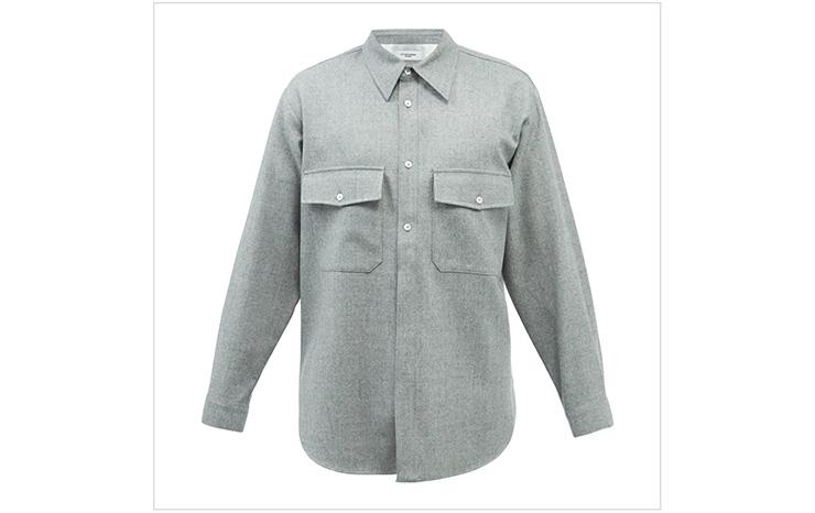 르917 옴므 & 플랩 포켓 울 셔츠, $396 USD